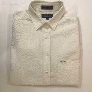 Faconnable 100% Cotton Seersucker Shirt. Size S.